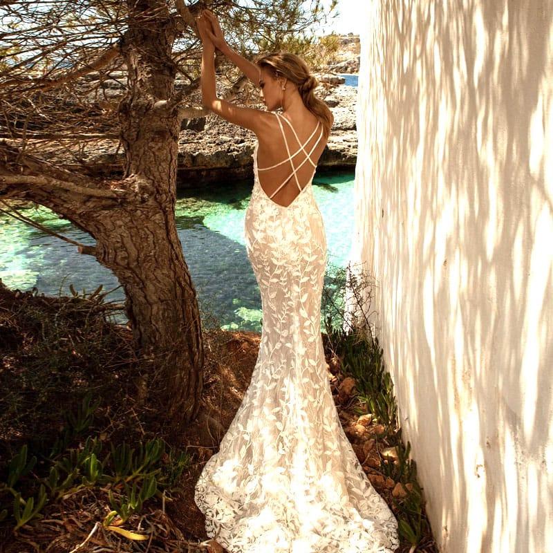 Свадебные платья Русалка, Годе, Рыбка