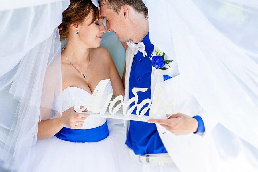 Свадьба в синем: утонченная красота и мода? (часть 2)