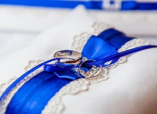 Свадьба в синем: утонченная красота и мода? (часть 1)