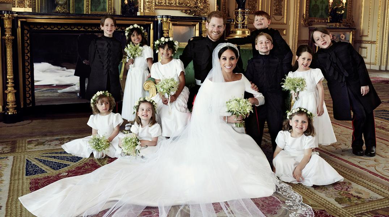Королевское свадебное платье А-силуэта