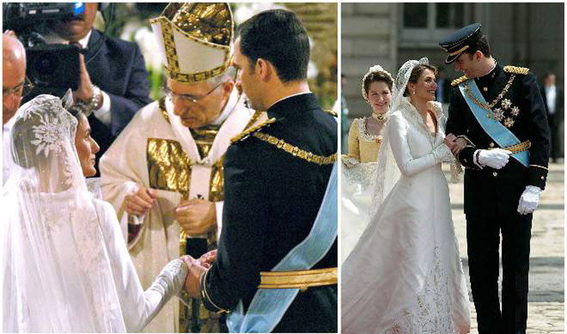 Испанский принц Фелип и Летиции Ортис Росасолано