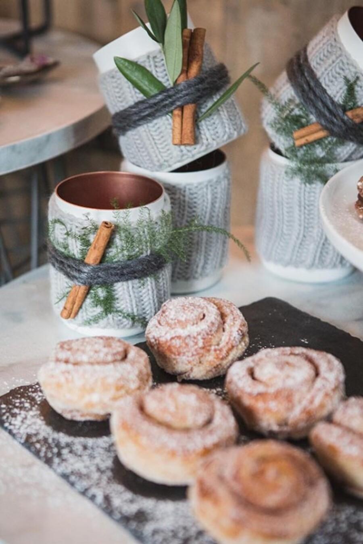 Зимняя свадебная еда бохо