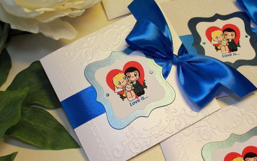 Свадебные пригласительные для зимнего праздника