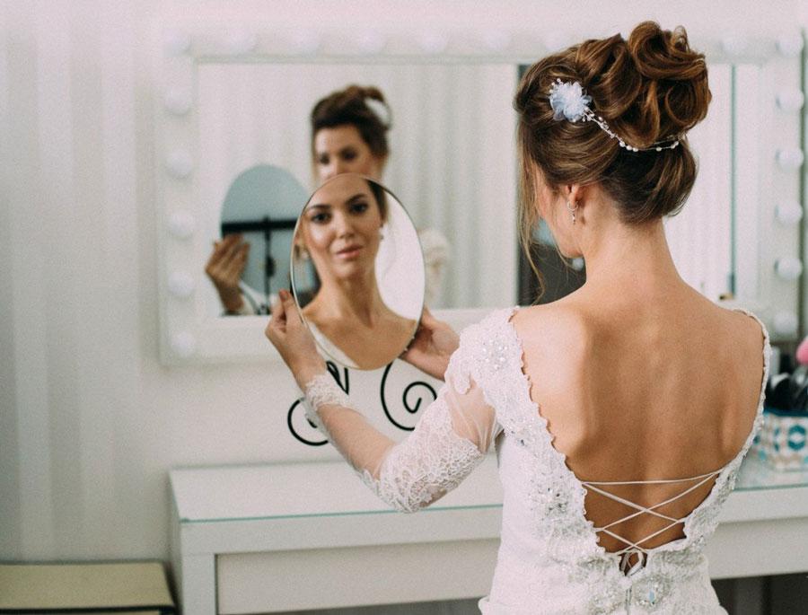 Свадебное платье и не только: прическа